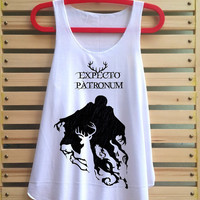 Expecto Patronum Spell Magical Space shirt Harry potter shirt tank top Harry Potter clothing vest tee tunic - size S M