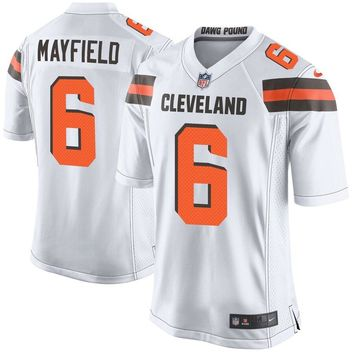 Youth Cleveland Browns Baker Mayfield Nike White Player Game Jersey