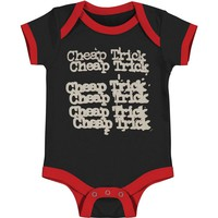 Cheap Trick Boys' Logo Bodysuit Black