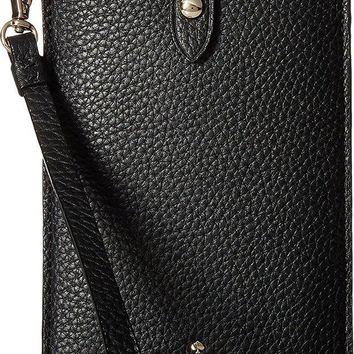 LMFXT3 Kate Spade New York Women's Pebbled Phone Sleeve for iPhone 6, 6 Plus, 7, 7 Plus, 8, 8 Plus Black One Size
