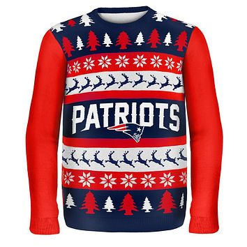 New England Patriots - One Too Many Ugly Christmas Sweater