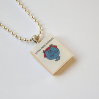 Little Miss Giggles Scrabble Pendant on 18 inch silver ball chain