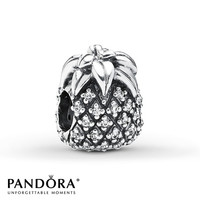 Pandora Charm Sparkling Pineapple Sterling Silver
