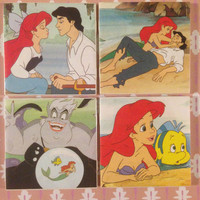 Disney The Little Mermaid Coaster Gift Magic- Set of 4
