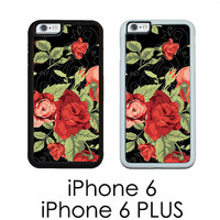 iPhone 6 iPhone 6 PLUS Black Floral Shabby Cottage Chic Phone Cover Phone Case