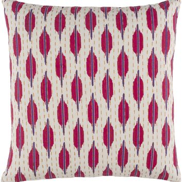 Kantha Throw Pillow Purple, Pink