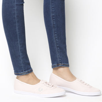 Fred Perry Aubrey Slip Ons Pink Cement Exclusive - Hers trainers