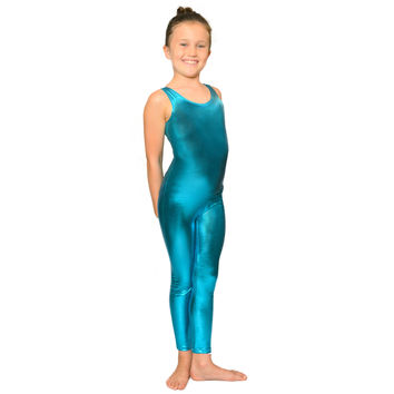 Girl's Metallic Tank Barbie Unitard