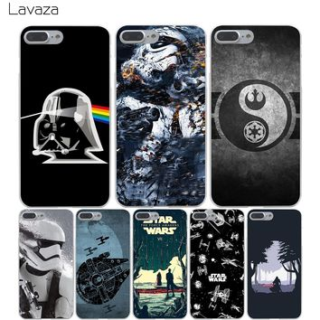 Lavaza Star Wars Hard Transparent Cover Case for iPhone X 10 8 7 6 6S Plus 5 5S SE 5C 4 4S