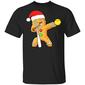 Dabbing Gingerbread Santa Softball Christmas Pajama Gifts