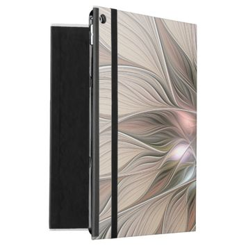"Joyful Flower Abstract Beige Brown Floral Fractal iPad Pro 12.9"" Case"