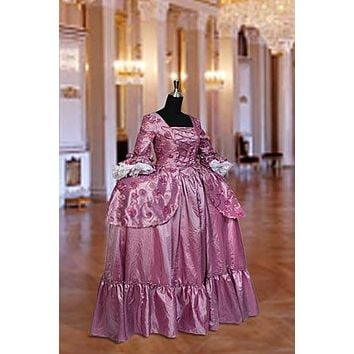 Renaissance Baroque Rococo Gown or Medieval Dress Gown in Taffeta