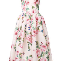 Dolce & Gabbana Rose Print Flared Dress - Farfetch