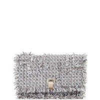 Proenza Schouler Small Lunch Frayed Tweed Clutch Bag