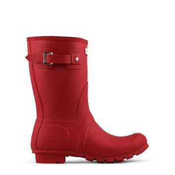 Hunter Original Short Rain Boot Women's - Red
