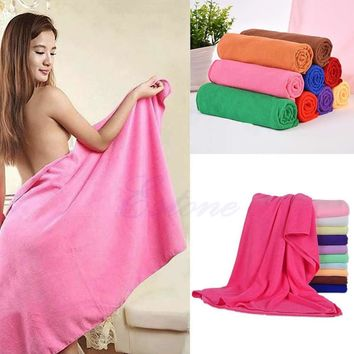 Nonwoven 70x140cm Absorbent Microfiber Bath Beach Towel Drying Washcloth Swimwear Shower for Adults