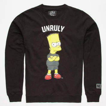 Neff The Simpsons Unruly Mens Sweatshirt. Black  In Sizes