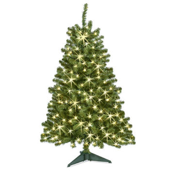 Celebrate It™ Pre-Lit Hillside Pine Christmas Tree, Clear, 4 Ft.