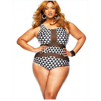 Sexy Plus Size Swimwear-One Piece Swimsuit