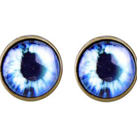 Blue Eyeballs Earrings, Scary Eyes Earrings, White Earrings, Eyes Accessories, Funny Gift Idea, Icy Blue Accessories