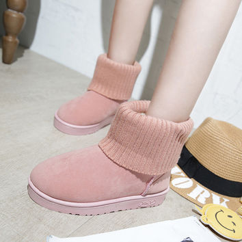 On Sale Hot Deal Winter Patchwork Boots [8865371404]