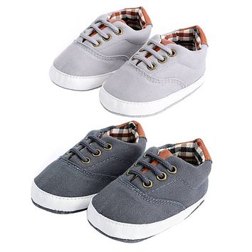 Baby Sneakers Newborn Infant Boys Non Slip Leisure Lacing Canvas Shoes Fashion Toddlers Soft Sole First Walkers Baby Moccasins
