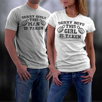 Sorry Girls/ Boys Matching Couples Tshirts, Couples Valentine Shirts, valentine Gifts