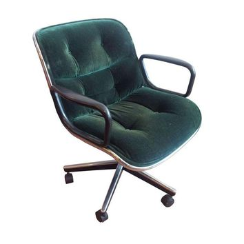 Pre-owned Knoll Pollock Executive Chair in Green Mohair