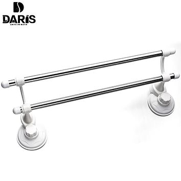 SDARISB Decorative Hotel Plastic Bathroom Towel Rack Toilet Kitchen Stand Suction Cup Wall Mount Towel Rack Set