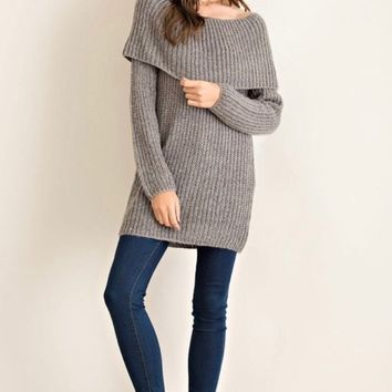Chunky Fold Over Sweater
