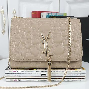 YSL Yves Saint laurent Women Fashion Leather Shoulder Bag Crossbody Satchel