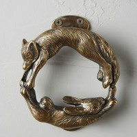 Forest Friendship Doorknocker by Anthropologie Antique Brass One Size Hardware