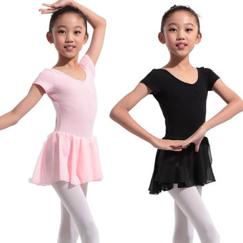Girls Gymnastics Ballet Dress Kids Leotard Tutu Dance Wear Costumes