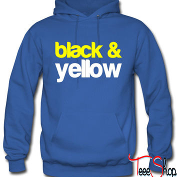 Black and Yellow Wiz Khalifa Design 6 hoodie