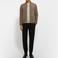 Theory - Antony Suede Bomber Jacket | MR PORTER