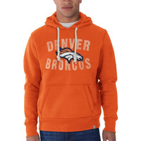 Denver Broncos '47 Brand Cross Check Pullover Hoodie - Orange