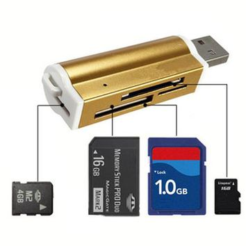 Aluminum All in one USB 2.0 Card Reader