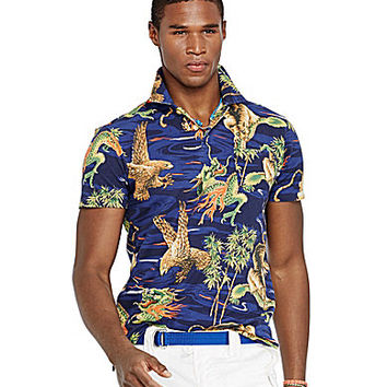 Polo Ralph Lauren Printed Featherweight Mesh Polo Shirt - Dragon/Tiger