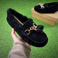 Ozlana Ugg The Fluffy Loafer Black Slippers - Best Online Sale - Beauty Ticks