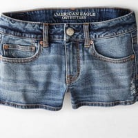 AEO Women's Denim Shortie (Medium Wash)