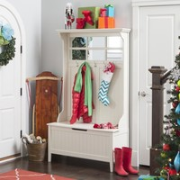 Belham Living Richland Hall Tree - Antique White | www.hayneedle.com