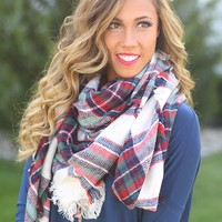 Berry Beautiful Blanket Scarf