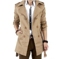 Amtify Men's trench coat mid length