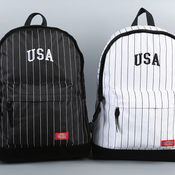 Hot Deal Comfort Back To School College On Sale Stripes Stylish Fashion Casual Cycling Backpack [10687483591]