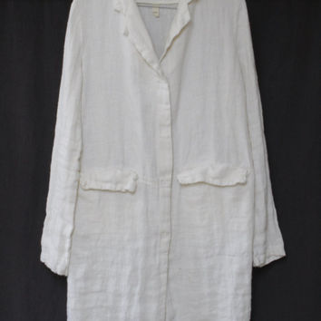 Linen Jacket linen robewrinkled softened made by by mooshop