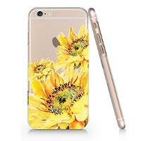 Sunflower Vintage Floral Slim Pattern Iphone 6 Plus Case, Clear Iphone 6 Plus Hard Cover Case (For Apple Iphone 6 4.7 Inch Screen)-Emerishop