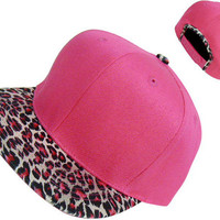 Tracy DiMarco Pink Leopard Snapback Hat