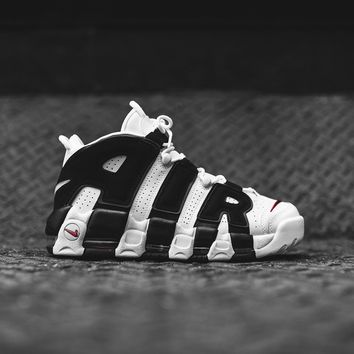 Nike Air More Uptempo - White / Black / Varsity Red