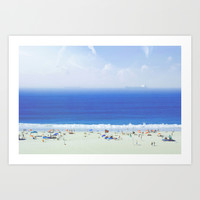 On the Beach Art Print by Wowpeer