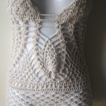 Crochet dress, monokini dress, beach cover up, bikini cover, festival, summer dress, boho, gypsy